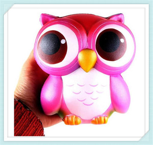 Wholesale Hot Sale Owl Squishies Kawaii Owl Squishy Toys Soft Slow Rising Phone Strap Squeeze Break Kid Toy Relieve Anxiety Christmas Gift Free DHL