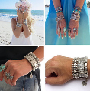 Wholesale Boho Antalya Coin Bracelet Silver Gypsy Statement Coachella Festival Turkish Jewelry Sinaya Tribal Ethnic Jewelry