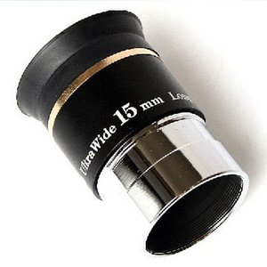 Freeshipping 1.25 inch 66 degree Ultra wide 15mm Eyepiece for Telescopes on Sale