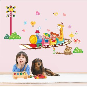 Wholesale 50 CM Removable Sticker Nursery Children s Room Wall Stickers Fun Train Wall Stickers DIY Wall Art Stickers