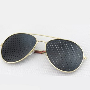 Wholesale NEW Unisex Vision Care Pin hole Eyeglasses Pinhole Glasses Eye Exercise Eyesight Improve metal