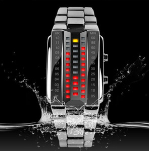 Wholesale 2015 New Fashion Design Military Sports Watches Binary Electronic LED Watch ATM Students Bracelet Wristwatches Skmei Brand