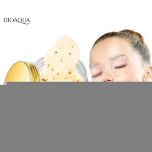 máscaras para dormir venda por atacado-Bioaqua Ouro Osmanthus Máscara De Olho Collagen Gel Whey Protein Sleep Patches Remova o círculo escuro Mouturizing Eye Mask