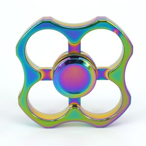 ingrosso tre fibbie-10pcs Fidget Spinner Colorful Tiger Buckle Fingertip Gyro per ADHD Anti stress Tri Spinner Hand Spinner per ADHD Anti stress EDC Toy