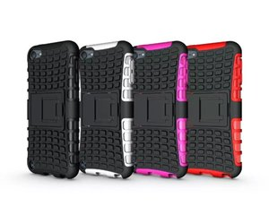 Heavy Duty Rugged Dual Layer Impact Armor Robot KickStand Case Cover For Apple ipod touch 6 200pcs lot