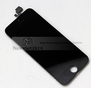 Wholesale High quality LCD Display For iphone 5 5G lcd Touch Screen Digitizer Assembly For Iphone 5 5g lcd Black&White color
