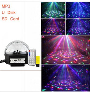 mp3 magci ball led crystal magic ball mobile phone bluetooth U disk SD card led crystal magic ball light home party office light