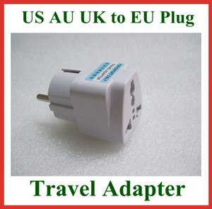 5pcs Universal Travel Adapter Australia AU   USA US   UK to EU Plug Wall AC Power Adapter 250V 10A Socket Converter