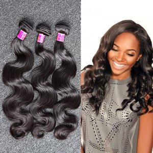 Wholesale Hot Sale Peruvian Hair Weave Human Hair Extension bundles inch Natural Color Wavy Body Wave Queen Hair Products
