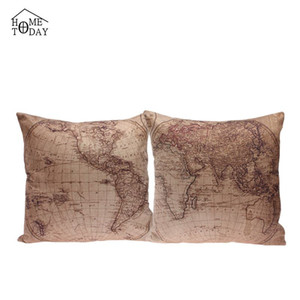 Wholesale 5 cm cm Pillow Cases Decorative World Map Print Pillow Case Eco Friendly Pillows Cover