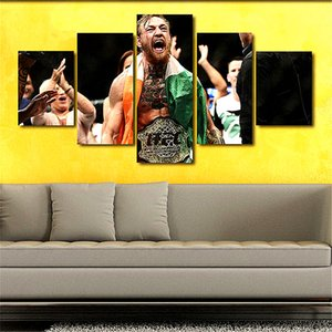 Conor McGregor,5 Pieces Home Decor HD Printed Modern Art Painting on Canvas (Unframed Framed)