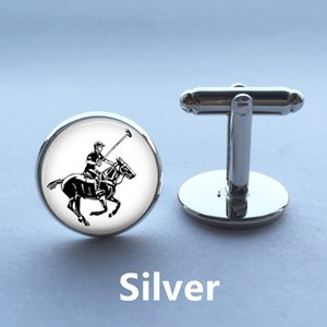 1 Pair Free Shipping Photo Cufflinks Polo Player and Horse cufflinks cuff links designer brand cufflink shirts high quality 13