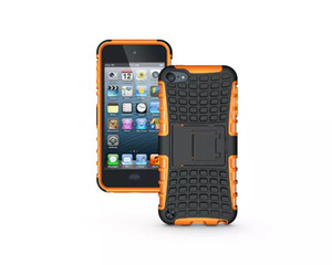 Heavy Duty Rugged Dual Layer Impact Armor Robot KickStand Case Cover For Apple ipod touch 6 100pcs lot