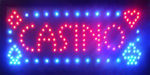 Casino Beer Pub Games Poker Bar LED Sign Neon Light Sign Display 19*10 Inch Indoor