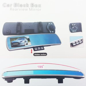 "Wholesale car DVR vision black carcam tachograph 170 Degree 4.3"" inch LCD Monitor Car Mirror Camera DVR Full HD 1080P"