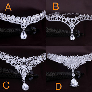 Cheap Bridal hair accessories wedding fashion for women of Metal beaded pearl chain head hair jewelry Indian women bridal ornaments crown