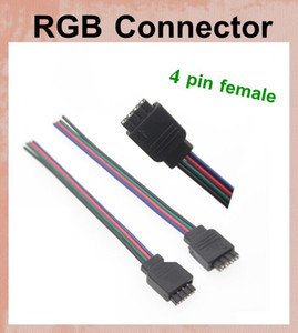 4-pin power Line Connector For 3528 5050 RGB Led Strip Light 4 pin mini jack adapter female wired cable contactor dhl free shipping DT023
