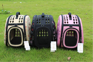 Pet Travel Carrier Shoulder Small Dogs Cats Rabbits Bag Folding Portable Breathable Outdoor Carrier Pet Bag Portable dog cage