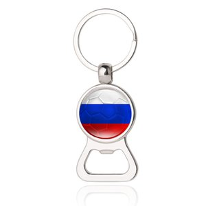 Wholesale Beer Bottle Opener Key Chains Russia Finland Montenegro Honduras Ghana Czech Cameroon World Cup Soccer Men s Fashion Jewelery
