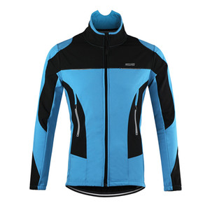 ARSUXEO 2016 Thermal Cycling Jacket Winter Warm Up Bicycle Clothing Windproof Waterproof Sports Coat MTB Bike Jersey on Sale