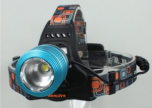 Wholesale Boruit Rechargeable Headlamp CREE XM L T6 LED Headlight LM Mode Outdoor Hiking Camping Fishing light AC Charger