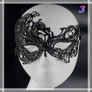 Wholesale Cheap Price Half Faces Eye Masks Masquerade Masks Mardi Gras Venetian Prom Dancing Party Mask black Lace Masks With Types