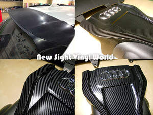 Wholesale carbon fiber wrapped for sale - Group buy Black D Carbon Fiber Vinyl D Carbon Fiber Wrap For Car Wrap bubble Free Size m Roll