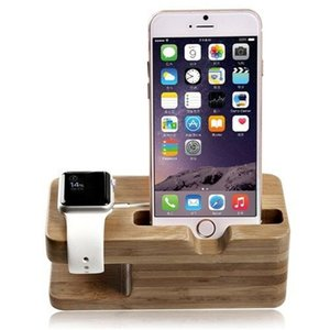 Wholesale Wood Charging Stand Bracket Docking Charge Station for iphone plus S and Apple Watch iwatch mm mm