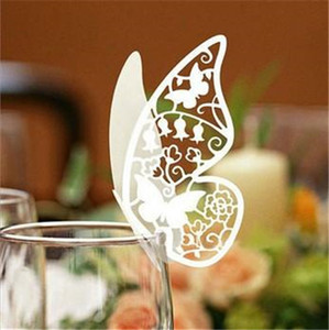 Butterfly Paper Place Card   Escort Card   Cup Card  Wine Glass Card Paper for Wedding Par Wedding Favors