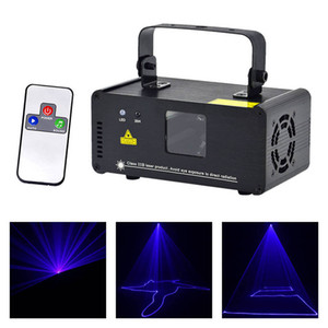 Wholesale AUCD New Mini Portable CH DMX Blue Laser Scanner Effect Stage Lighting DJ Party Club Show LED ProjectorLights DM B150