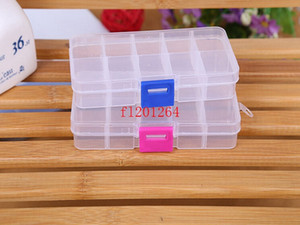 Wholesale adjustable compartment boxes for sale - Group buy Tool DHL Free Earring Adjustable Fedex Clear Storage Shipping Box Compartment Jewelry For Plastic Container Bffnb