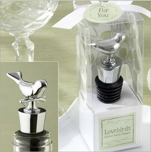 Wholesale New Arrival Exquisite Box Packing Love Bird Wine Stopper Metal Bottle Opener For Wedding Favor Supplies