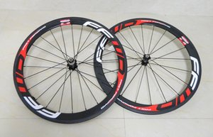RED FFWD carbon road wheelset Can DIY LOGO 3K full carbon bicycle wheelset 50mm clincher Powerway