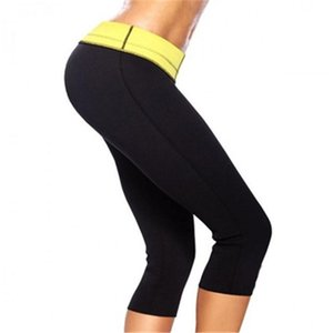 European American shapers neoprene slimming women yoga pants shaping self-heating neutral girls solid black body fashion K083