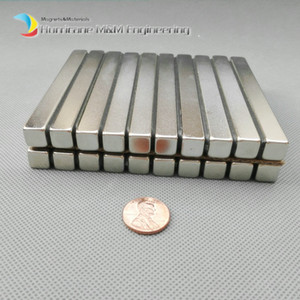 Wholesale 1 Pack Grade N52 NdFeB Block x10x10 mm about quot Rectangle Bar Strong NdFeB Bar Neodymium Permanent Magnets Industry Magnets