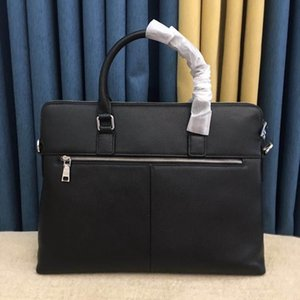 Wholesale men leather briefcases resale online - briefcase laptop bag sacoche homme classic men and women sports soft leather elegant simple fashion travel