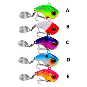 manivela spinner al por mayor-6 G Metal Mini Vib con Cuchara Treble Hook Pesca Pin Pin Wobblers Cait Vibration Spinner Spinner Fishing Tackle x2