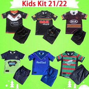 ingrosso pullover da rugby dei ragazzi-KIT KIT KIT PIÙ RUGBY JERSYYS MELBOURNE BRONCOS WEST TIGER Coniglio Leopard Casa Away Boys Jersey Child Set Bambini Vestito Top Quality