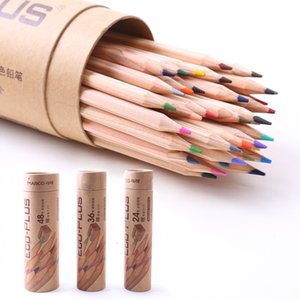 Wholesale paper logs for sale - Group buy Pencils Marco color log color cil environmental protection paper cartridge painting oil color lead