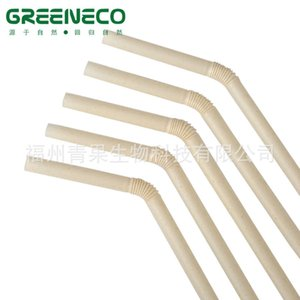 Wholesale bendable plastic resale online - Cups Bended tube biodegradable plastic disposable milk tea bendable straw