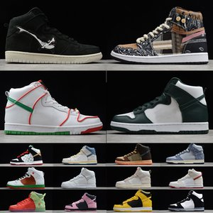 macarons venda por atacado-SB Dunk High Strawberry Cough Strawberry Cough Paul Rodriguez Invert Celtics Varsity Maize casual sports skateboard shoes