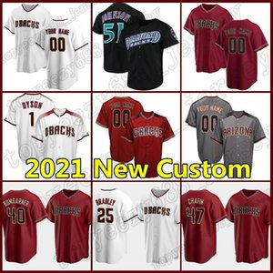madison bumgarner jérsei venda por atacado-51 Randy Johnson Mens Jersey Diamontbacks Kole Calhoun Madison BumGarner Arizona Baseball Ketel Marte Roberto Clemente Ahmed