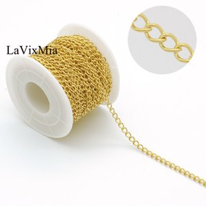 Wholesale steel chain meter resale online - Chain Extention Meters Tail Stainless Steel Silver Gold DIY Jewelry Necklace Bracelet Extender Chains