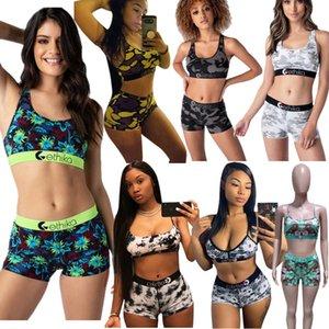21Color Women Girls Swimwear Bikini Set Sleeveless Vest Tanks + Shorts Swimming Suit Fashion Design 2 Piece Outfits Summer Swimsuit Slim Beachwear