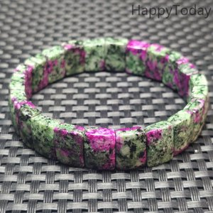 Wholesale rubies bangles resale online - High Quality Ruby In Zoisite Rectangle Bracelet natural Stone Bangle Jewelry For Woman Gift