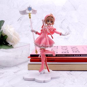 Wholesale magic girl figures resale online - 16cm Anime Lovely Card Captor PVC Action Figure Models Cardcaptor Magic Wand Girls Cake Decoration Figure Toys kid Gift