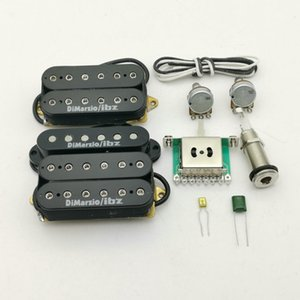 Wholesale electric guitars pickups resale online - ibanez guitar DiMarzioIBZ Alnico5 Guitar Pickups RG2550 RG2570 HSH Electric Guitar Pickup N M B Set parts