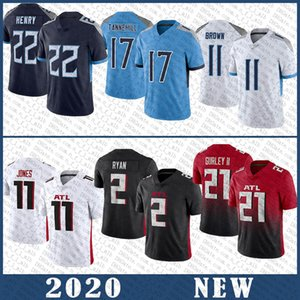 Wholesale tennessee jerseys for sale - Group buy 22 Derrick Henry AJ Brown Ryan Tannehill Football Jersey Todd Gurley II Julio Jones Matt Ryan High quality stitched Tennessee Titan Atlanta Falcon