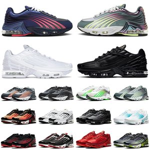 Wholesale girls tennis shoes for sale - Group buy 2021 Newest Quality Tuned Plus III Tn Hasta Running Shoes Triple Black ALL White Aqua Volt Obsidian Outdoor Trainers Sneakers