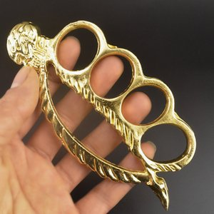 Wholesale knuckle rings for sale - Group buy Metal skull sleeping beauty hand clasp ring finger ring defense weapon brass knuckle hand support fist clasp finger tiger four fingers